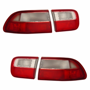 Honda Civic 92-95 2/4DR Tail Light Red / Clear (OEM) - Click to enlarge