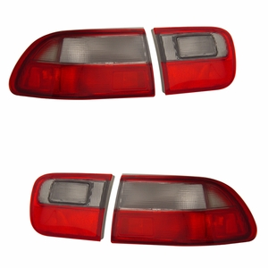 Honda Civic 92-95 2/4DR Tail Light Red / Smoke (OEM) - Click to enlarge