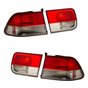 Honda Civic 96-00 2DR Tail Light Red / Crystal - Click to enlarge