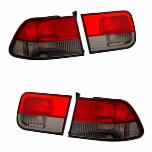 Honda Civic 96-00 2DR Tail Light Red / Smoke - Click to enlarge