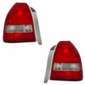Honda Civic 96-98 3DR Tail Light Red / Clear - Click to enlarge