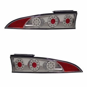 Mitsubishi Eclipse 95-99 L.E.D 3Pcs Tail Light Chrome - Click to enlarge