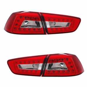 Mitsubishi Lancer 08-09 L.E.D 4Pcs Tail Light Red / Clear - Click to enlarge