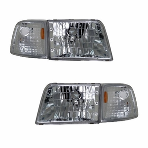 Ford Ranger 93-97 Head Light Clear With Corner Amber - Click to enlarge