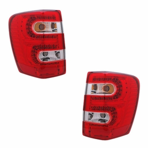 Jeep Grand Cherokee 99-04 L.E.D Tail Light Red / Clear - Click to enlarge