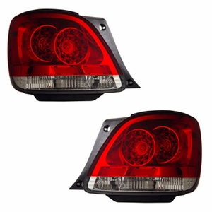Lexus GS300 / 400 / 430 98-05 L.E.D Tail Light Red / Clear - Click to enlarge