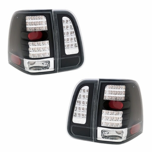 Lincoln Navigator 03-06 L.E.D Tail Light 4Pcs JDM-Black - Click to enlarge