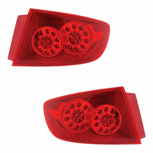 Mazda 3 04-06 4DR L.E.D Tail Light All Red Outside 2Pcs - Click to enlarge
