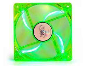 120mm Green w/ Blue LED 3/4 Pin - Click to enlarge