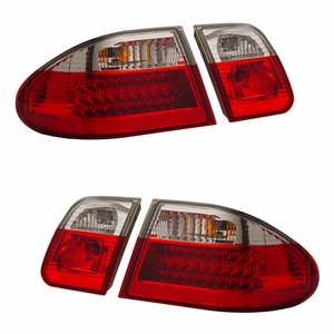 MBZ E Class W210 95-03 Tail Light Red / Clear - Click to enlarge