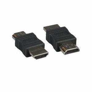 HDMI Male to HDMI Male Gender Changer Adapter Black - Click to enlarge