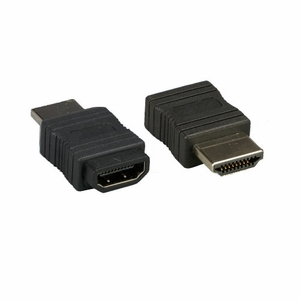 HDMI Male to HDMI Female Gender Changer Adapter Black - Click to enlarge