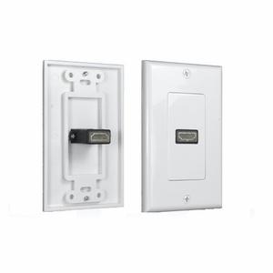 Single Port HDMI Premium Wall Plate 1.3 1080P White - Click to enlarge