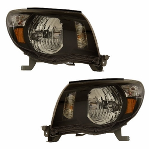 Toyota Tacoma 05-09 Head Light Black Amber - Click to enlarge