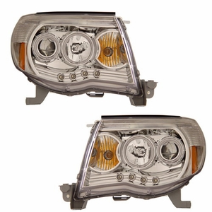 Toyota Tacoma 05-09 Projector Head Light W/O Ccfl Bar Chrome Clear Amber (CCFL) - Click to enlarge