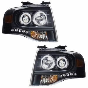 Ford Expedition 07-08 Projctor Head Light Black Clear Amber - Click to enlarge