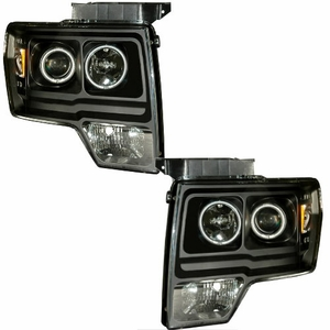 Ford F-150 09-Up Projector Head Light Halo L.E.D Black Amber (CCFL) - Click to enlarge