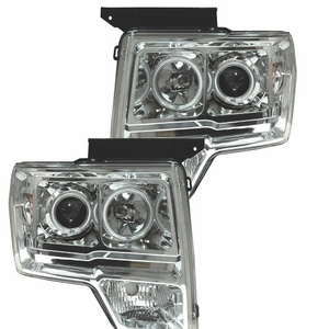 Ford F-150 09-Up Projector Head Light Halo L.E.D Chrome Amber (CCFL) - Click to enlarge
