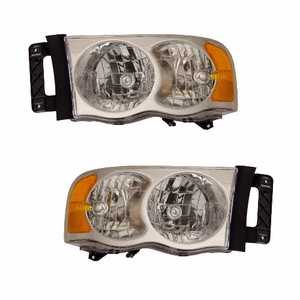 Dodge Ram 02-05 Crystal Head Light Clear Amber - Click to enlarge