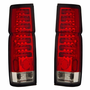 Nissan Hardbody 86-97 L.E.D Tail Light Red / Clear - Click to enlarge
