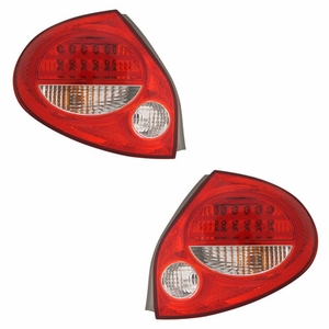 Nissan Maxima 00-01 L.E.D Tail Light Red / Clear - Click to enlarge