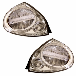 Nissan Maxima 00-01 Tail Light Chrome - Click to enlarge