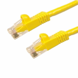 Brand New Category 6 Cat 6 Ethernet LAN Molded Type 24 AWG UTP Patch Cord 550MHZ - 15FT Yellow - Click to enlarge