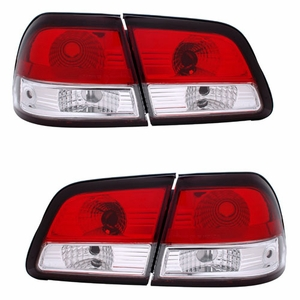 Nissan Maxima 97-99 G2 4Pcs Tail Light Crystal Red / Clear - Click to enlarge