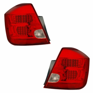 Nissan Sentra 07 Up L.E.D Tail Light Red / Clear - Click to enlarge