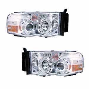 Dodge Ram 02-05 Projector Head Light G2 W/O Ccfl Bar  Halo Chrome Clear Amber (CCFL) - Click to enlarge