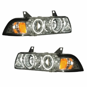 Bmw 3 Series E36 92-98 2 Door 1 Pc Projector Head Light G2 Halo Chrome Clear Amber (CCFL) - Click to enlarge