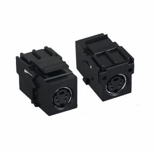 Brand New Inline Coupler S-Video MD4F /F MD4 Keystone (Black) - Click to enlarge