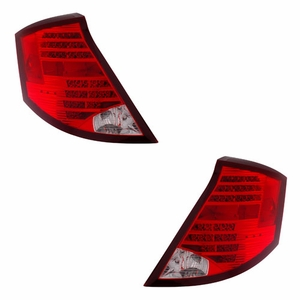 Saturn Ion 03-07 L.E.D. 4DR Tail Light Red / Clear - Click to enlarge