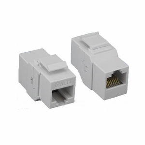 Brand New Category 5e Cat 5e Inline Coupler Feedthorough Keystone (White) - Click to enlarge