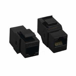 Brand New Category 5e Cat 5e Inline Coupler Feedthorough Keystone (Black) - Click to enlarge