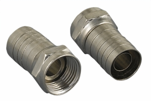 F Connector Crimpting for RG56/RG6 - Click to enlarge