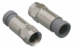 F-Type RG59 Compression Waterproof Connector - Click to enlarge