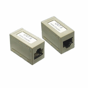 Brand New Straight Type Category 6 Cat 6 Inline Coupler (Shielded) - Click to enlarge