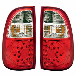 Toyota Tundra 00-06 L.E.D Tail Light Red / Clear (Std Bed Regaular Cab Access) - Click to enlarge