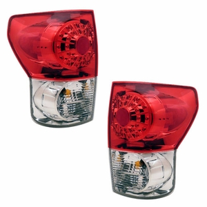 Toyota Tundra 07-08 L.E.D Tail Light Red / Clear - Click to enlarge