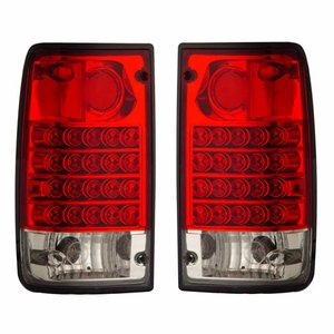 Toyota Pickup 89-95 L.E.D Tail Light Red / Clear - Click to enlarge