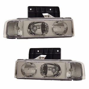 Chevy Astro 95-03 1 Pc Head Light Chrome - Click to enlarge