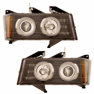 Chevy Colorado / G.M.C Canyon 04-06 Projector Head Light Black Clear (CCFL) - Click to enlarge