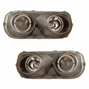 Acura Integra 94-97 Projector Head Light Halo Black Clear - Click to enlarge