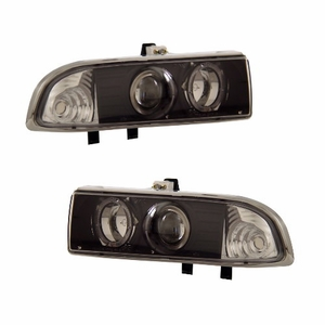 Chevy S10 / Blazer 98-04 Projector Head Light Halo Black Clear - Click to enlarge