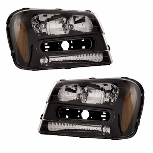 Chevy Trailblazer 02-05 Head Light Black Amber - Click to enlarge