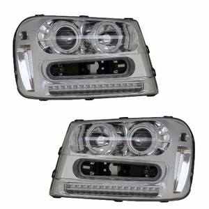 Chevy Trailblazer 02-05 Projector Head Light Halo Chrome Clear Amber (CCFL) - Click to enlarge