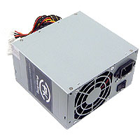 400 Watt Ball Bearing Fan ATX Power Supply for Pentium 4 AMD VISTA SATA  - Click to enlarge