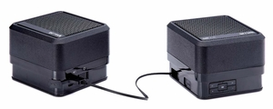 Go Rock Bluetooth Portable Rechargeable Speakers with Bass Black Color - Click to enlarge