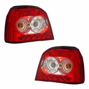 Volkswagen Golf 92-98 L.E.D Tail Light Red / Clear - Click to enlarge